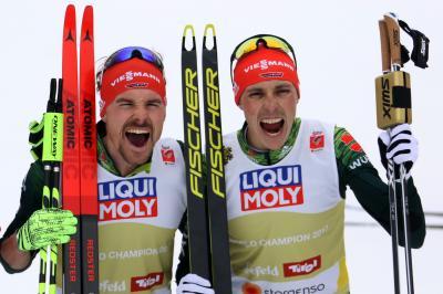 Fabian Rießle und Eric Frenzel holen WM-Bronze; Foto: Hahne