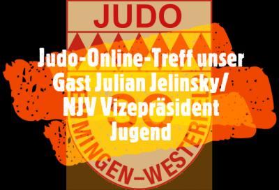 Foto zur Meldung: Judo-Online-Treffen - unser Gast Julian Jelinsky/NJV Vizepräsident Jugend