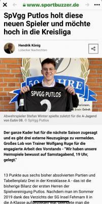 Pressebericht Fussballsparte
