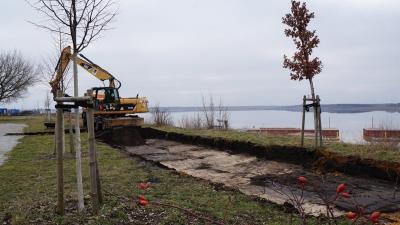 Foto zur Meldung: Baustart am Ilse-Rundweg in Großräschen