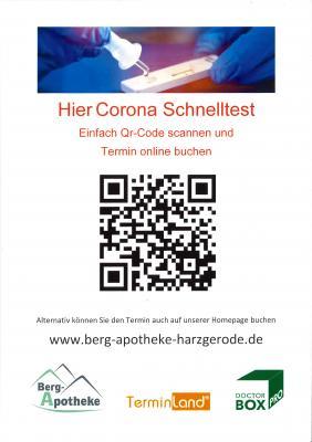 +++ Kostenloser Corona-Schnelltest der Bundesregierung ab sofort in der Bergapotheke in Harzgerode +++