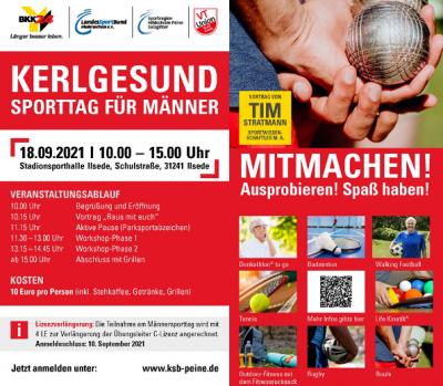 KERLGESUND-Männersporttag am 18.09.2021 in Ilsede