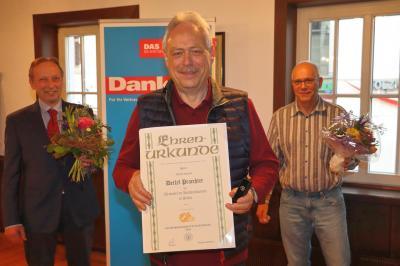 Silberne Ehrennadel der Handwerkskammer für Detlef Praechter aus Jena