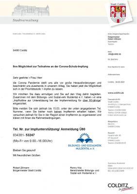"""""""Das Impfen IN COLDITZ geht weiter!?"""
