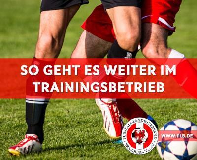 Das gilt nun für den Trainingsbetrieb in Brandenburg