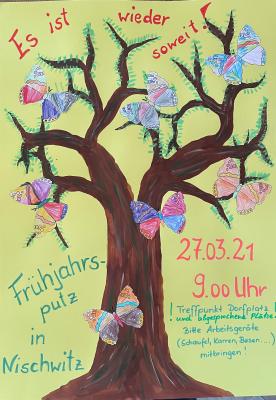 Frühjahrsputz am 27.03.2021 im Ortsteil Nischwitz