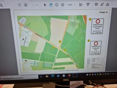 Foto zur Meldung: Vollsperrung der Kreuzung K 20 (Appelbütteler Straße) und Kreisstraße 74 (Ehestorfer Weg)