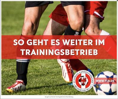 Foto zur Meldung: Fußball: Trainingsbetrieb im Freien ab sofort möglich