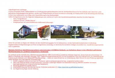 Bekanntmachung zum Breitbandausbau