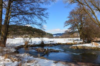 Winterimpressionen an der Spessartfährte aus dem Fotoarchiv des Naturparks