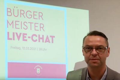 Livechat von Bürgermeister Ingo Seifert am 12.03.2021