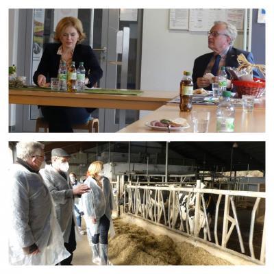 Besuch von Julia Klöckner - Milchviehstall
