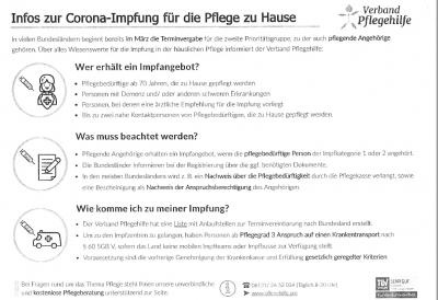 Foto zur Meldung: Infos zur Corona-Impfung für die Pflege zu Hause