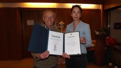 Ludwig Appel erhält Auszeichnung für langjährige Mitgliedschaft