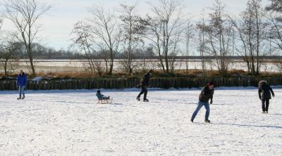 Eisige Temperaturen sorgten für winterlichen Spaß. Foto: Wiebke Kühl-Tessin