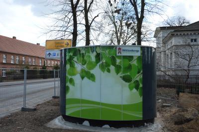 Seit dem 16. März verfügt der Clara-Zetkin-Park auch über eine WC-Anlage I Foto: Martin Ferch