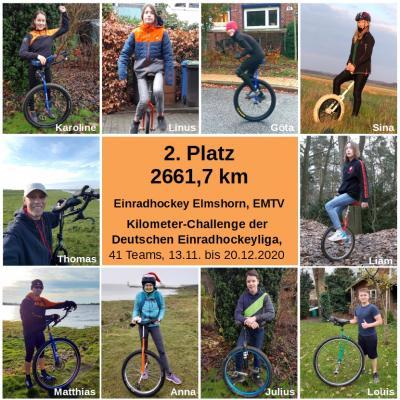 Kilometer-Challenge der Deutschen Einradhockeyliga