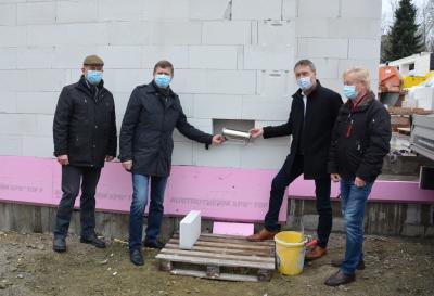 Foto zur Meldung: Grundsteinlegung für Neubau der Rettungswache in Klettwitz