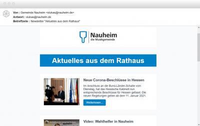 Foto zur Meldung: Aktuelles aus dem Rathaus – Nauheimer Gemeindeverwaltung startet Newsletter
