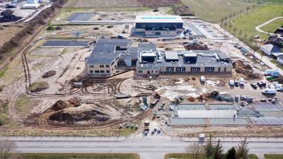 Baustelle Schulzentrum Sundhagen am 18.03.2021