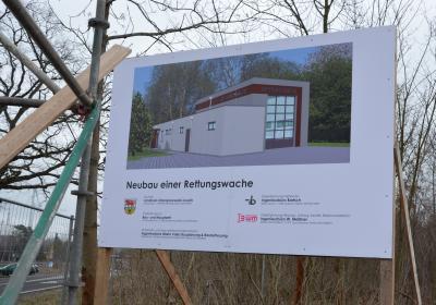 Grundsteinlegung für Neubau der Rettungswache in Klettwitz