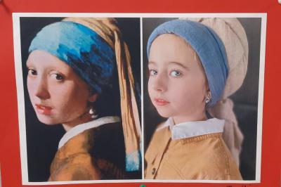 Foto zur Meldung: Klasse 4c: Kunst in Quarantäne