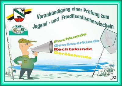 """Vorankündigung Fischerprüfung für den """"kleinen"""" Fischereischein"""