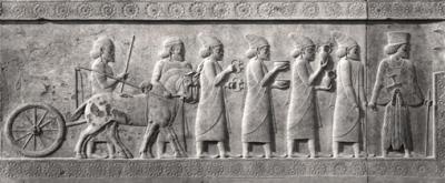 Persepolis: Relief zur Tradition des Neujahrsfestes