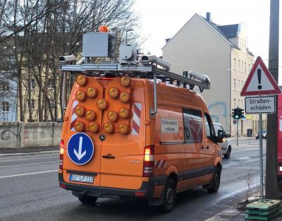 Straßenbefahrung und Zustandsanalyse auf 200 Kilometer Straße