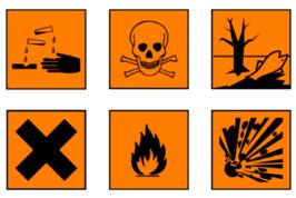 Sonderabfall- Gefahrenzeichen