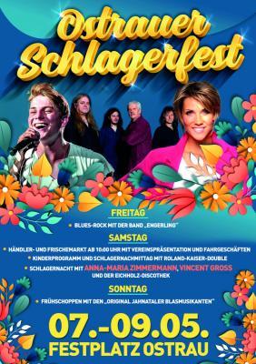 Foto zur Meldung: 07.05. - 09.05.2021 - Ostrauer Schlagerfest - VINCENT GROSS und ANNA-MARIA ZIMMERMANN live in Ostrau