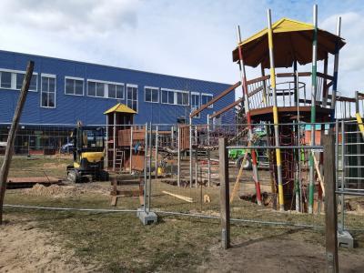 Foto zu Meldung: Die Arbeiten auf neuem ITBL-Spielplatz kommen voran