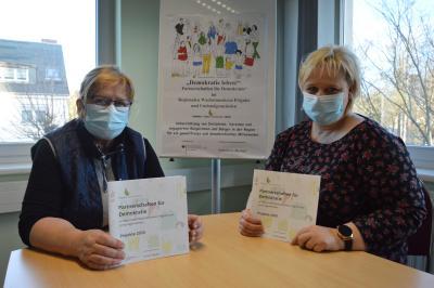Marina Hebes und Annette Hensler von der Koordinierungsstelle Partnerschaften für Demokratie Prignitz I Foto: Martin Ferch