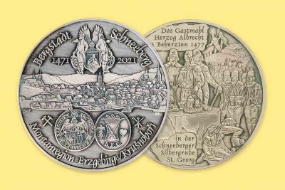 550 Jahre Bergstadt Schneeberg - Jubiläumsmedaille