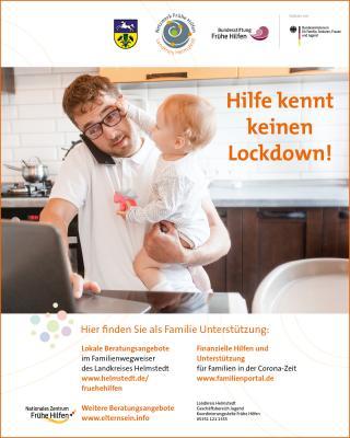 Foto zur Meldung: Hilfe kennt keinen Lockdown! Kampagne des Netzwerks Frühe Hilfen des Landkreises Helmstedt