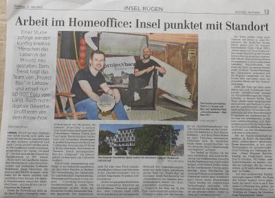 Dieser Artikel erschien am 21. Maiin der Ostsee-Zeitung; Autor Uwe Driest