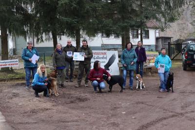 Spendenübergabe beim Harzfalkenhof Bad Sachsa