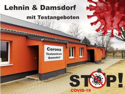 Gemeinde bietet zusammen mit dem Arbeiter-Samariter-Bund in Kloster Lehnin Teststellen an