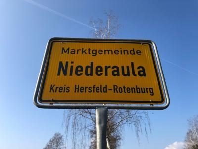 Ortsschild Niederaula