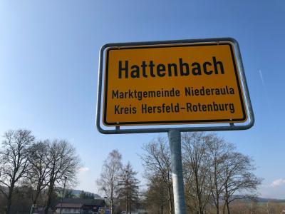 Ortsschild Hattenbach