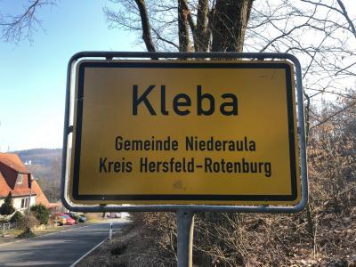 Ortsschild Kleba