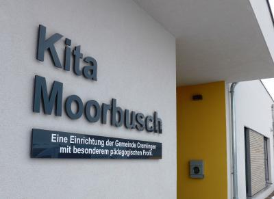 Eingang der neuen KiTa