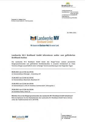 Bürgersprechstunden Breitband 04/2021