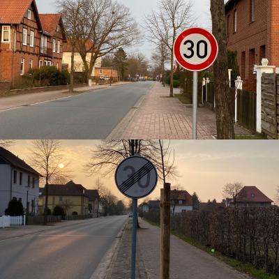 Foto zur Meldung: Tempo-30-Zone in der Rebberlaher Straße verlängert