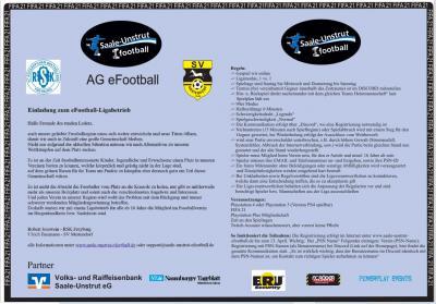 Einladung zum Start der Saale-Unstrut-eFootball--Liga -FIFA21-