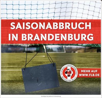 Foto zur Meldung: Fußball - Vorzeitiger Saisonabbruch in Brandenburg
