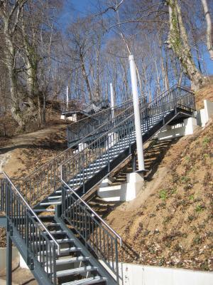 Treppenanlage Karl-Liebknecht-Ring zum Kurplatz