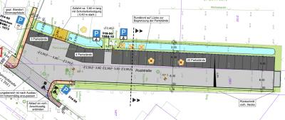 """Bürgerinformation zum Bau der Parkplatzbefestigung""""Poststraße"""" Zufahrt Bahnhofstraße 35"""