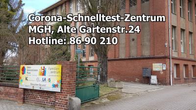 Foto zur Meldung: Antigen-Schnelltestzentrum im MGH-Lauchhammer