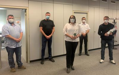 Foto zur Meldung: Verabschiedung der Leitung der Jugendfeuerwehr Holzwickede